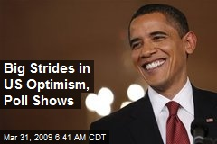Big Strides in US Optimism, Poll Shows