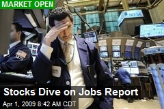 Stocks Dive on Jobs Report