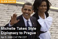 Michelle Takes Style Diplomacy to Prague