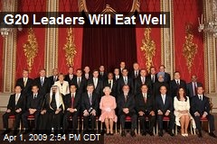 G20 Leaders Will Eat Well