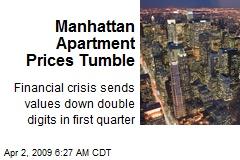 Manhattan Apartment Prices Tumble