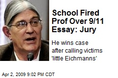 School Fired Prof Over 9/11 Essay: Jury