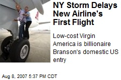 NY Storm Delays New Airline's First Flight