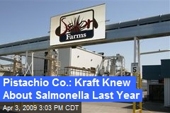 Pistachio Co.: Kraft Knew About Salmonella Last Year
