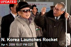 N. Korea Launches Rocket
