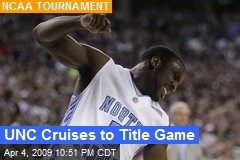 UNC Cruises to Title Game
