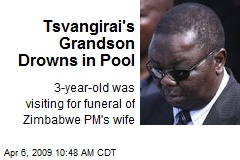 Tsvangirai's Grandson Drowns in Pool