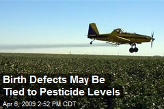 Birth Defects May Be Tied to Pesticide Levels