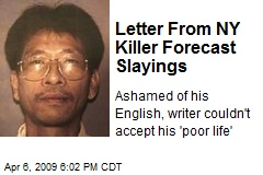 Letter From NY Killer Forecast Slayings