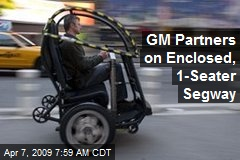 GM Partners on Enclosed, 1-Seater Segway