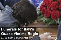 Funerals for Italy's Quake Victims Begin