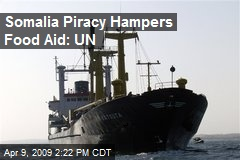 Somalia Piracy Hampers Food Aid: UN