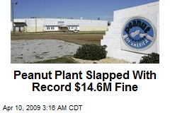 Peanut Plant Slapped With Record $14.6M Fine