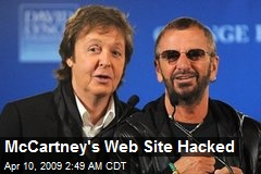 McCartney's Web Site Hacked