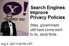 Search Engines Improve Privacy Policies