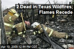 2 Dead in Texas Wildfires; Flames Recede