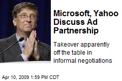 Microsoft, Yahoo Discuss Ad Partnership