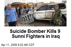 Suicide Bomber Kills 9 Sunni Fighters in Iraq