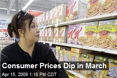 Consumer Prices Dip in March