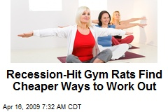 Recession-Hit Gym Rats Find Cheaper Ways to Work Out