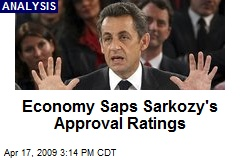 Economy Saps Sarkozy's Approval Ratings