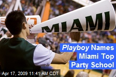 Playboy Names Miami Top Party School