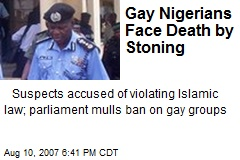 Gay Nigerians Face Death by Stoning