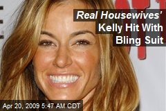 Real Housewives' Kelly Hit With Bling Suit