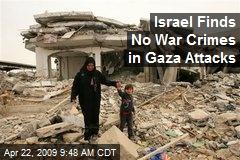 Israel Finds No War Crimes in Gaza Attacks