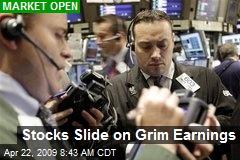 Stocks Slide on Grim Earnings