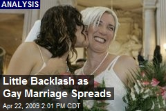 Little Backlash as Gay Marriage Spreads