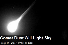 Comet Dust Will Light Sky
