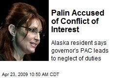 Palin Accused of Conflict of Interest