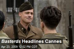 Basterds Headlines Cannes