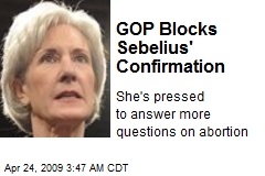 GOP Blocks Sebelius' Confirmation