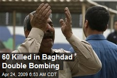60 Killed in Baghdad Double Bombing