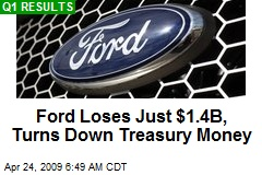 Ford Loses Just $1.4B, Turns Down Treasury Money