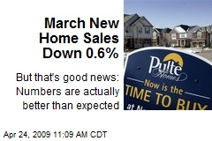 March New Home Sales Down 0.6%
