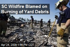 SC Wildfire Blamed on Burning of Yard Debris
