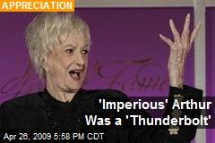 'Imperious' Arthur Was a 'Thunderbolt'
