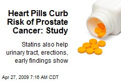 Heart Pills Curb Risk of Prostate Cancer: Study