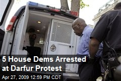 5 House Dems Arrested at Darfur Protest