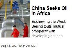 China Seeks Oil in Africa