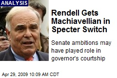 Rendell Gets Machiavellian in Specter Switch