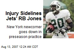 Injury Sidelines Jets' RB Jones