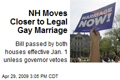 NH Moves Closer to Legal Gay Marriage