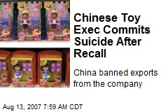 Chinese Toy Exec Commits Suicide After Recall