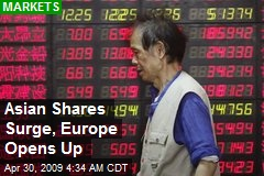 Asian Shares Surge, Europe Opens Up