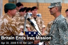 Britain Ends Iraq Mission