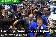 Earnings Send Stocks Higher